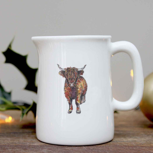 Highland Cow Mini Jug