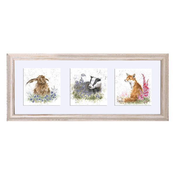 A Trio of Woodland Flora and Fauna Prints