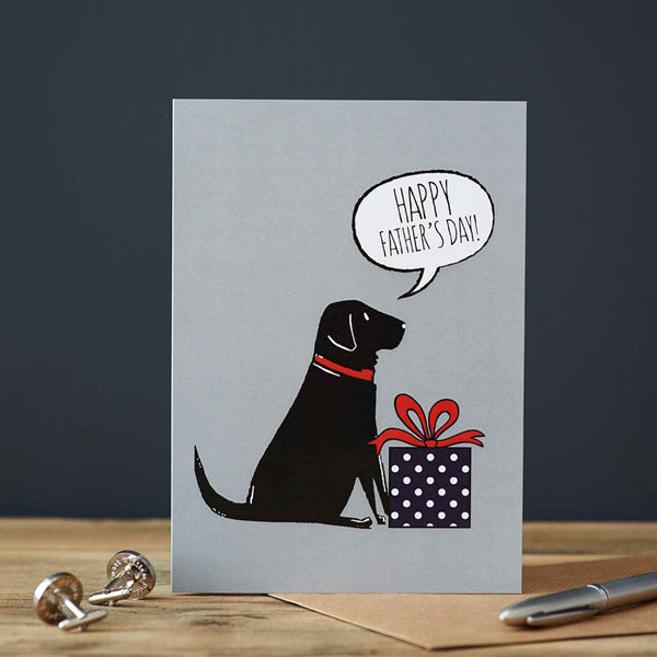 Black Labrador Fathers Day Card