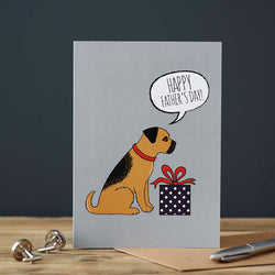 Border Terrier Fathers Day Card by Sweet William