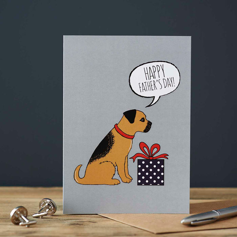Border Terrier Fathers Day Card