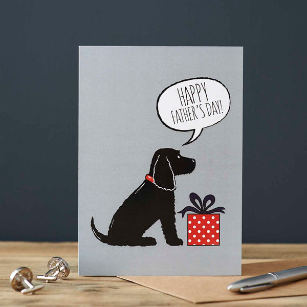 Black Cocker Spaniel Fathers Day Card