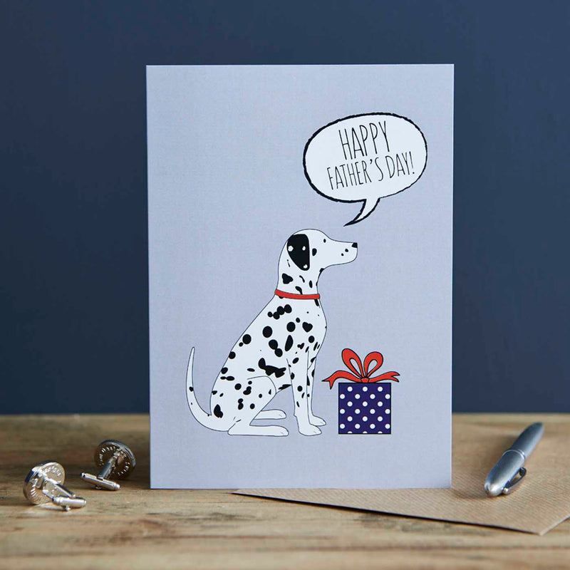 Dalmatian Fathers Day Card