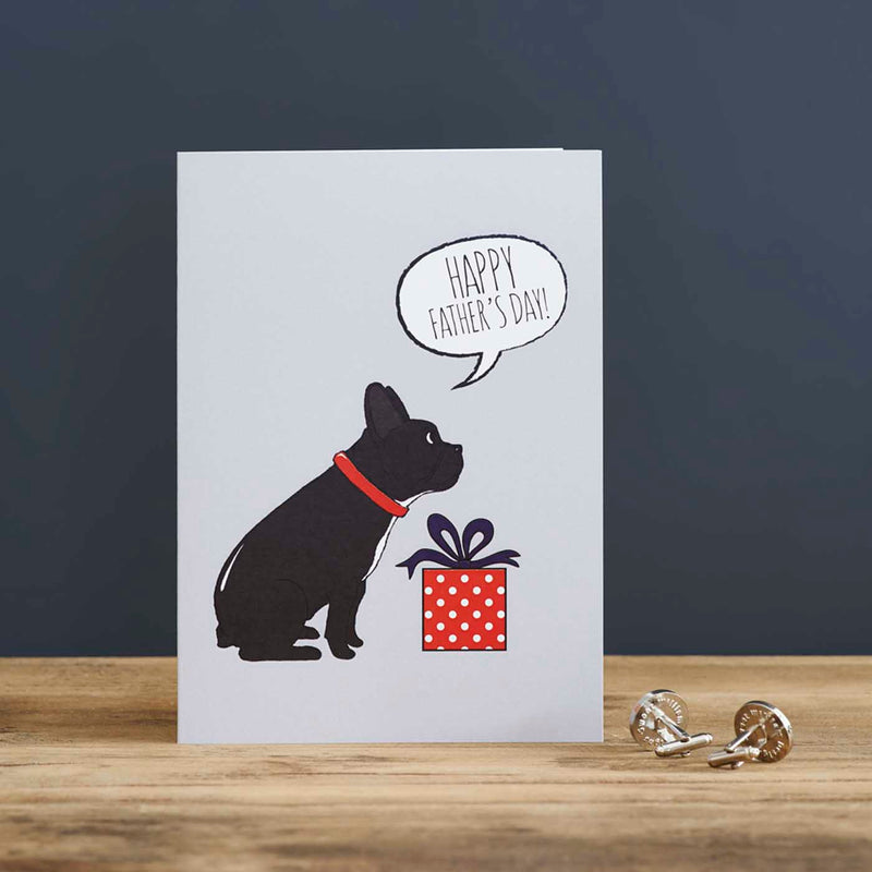 French Bulldog Fathers Day Card