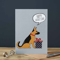 German Shepard Fathers Day Card