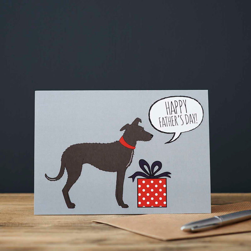 Lurcher Fathers Day Card
