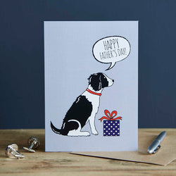 Black Springer Spaniel Fathers Day Card