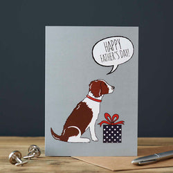 Liver Springer Spaniel Fathers Day Card