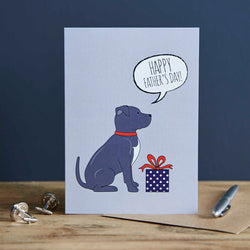 Staffie Fathers Day Card