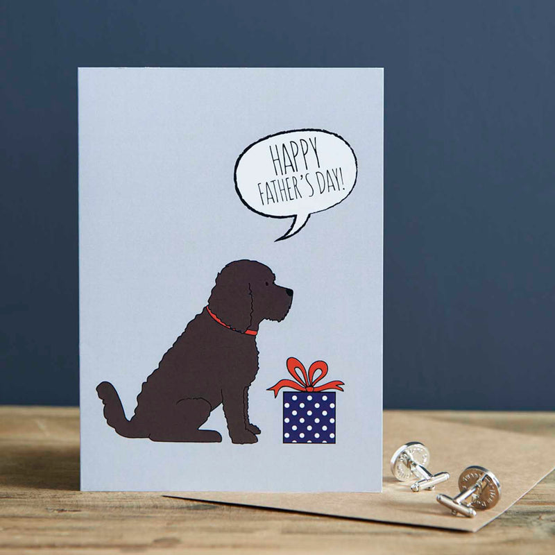 Cockapoo Fathers Day Card