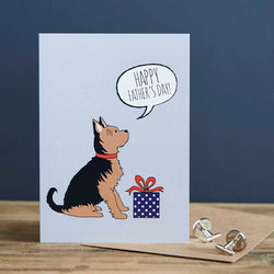 Yorkshire Terrier Fathers Day Card