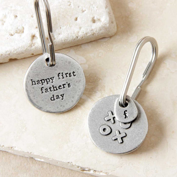 'Happy First Fathers Day' Keyring