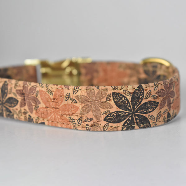 Floral Cork Dog Collar