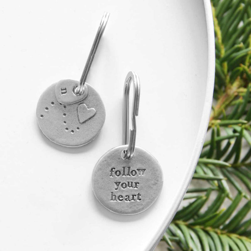 'Follow Your Heart' Keyring Gifts