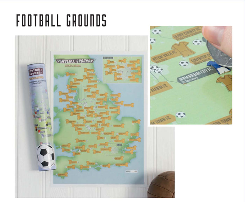 Football Grounds Collect & Scratch Map