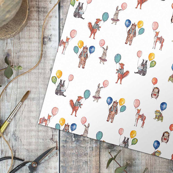 Party Animals Gift Wrap & Tag