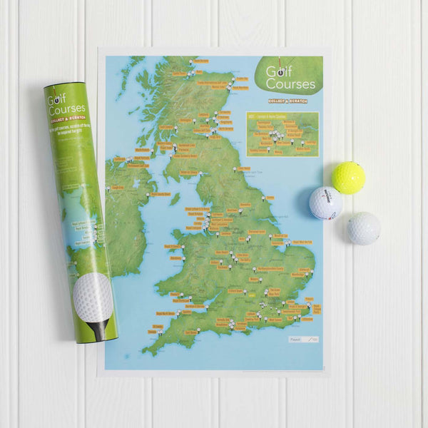 Golf Clubs Collect & Scratch Map