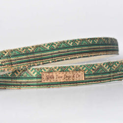 Green Aztec Cork and Hemp Dog Lead