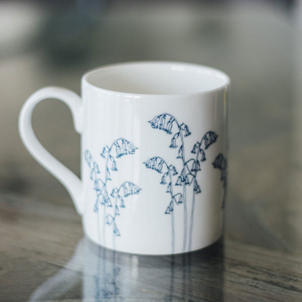 Bluebell Fine Bone China Mug by Helen Round