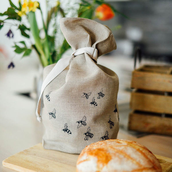 Bee Breathable Bread Bag by Helen Round