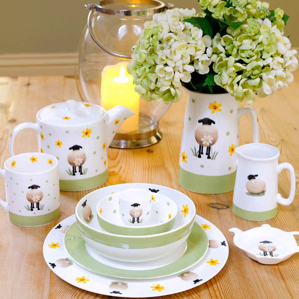 Half Pint Jug Sheep and Daisy Tableware Kitchen