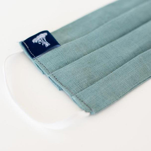 Reusable Linen With Elastic Face Mask by Helen Round