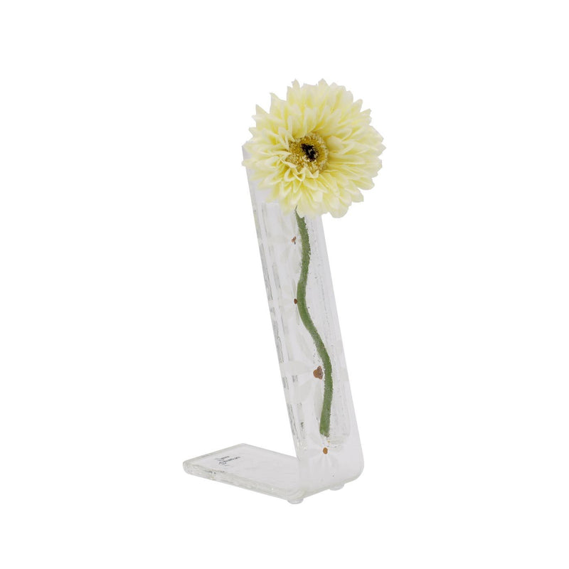 Daisy Table Top Flower Pocket - White Fused Glass