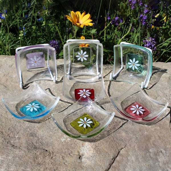 Daisy Ring Dish by Berserks Glass