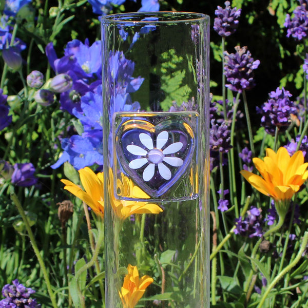 Sweetheart Tall Glass Vase Gift