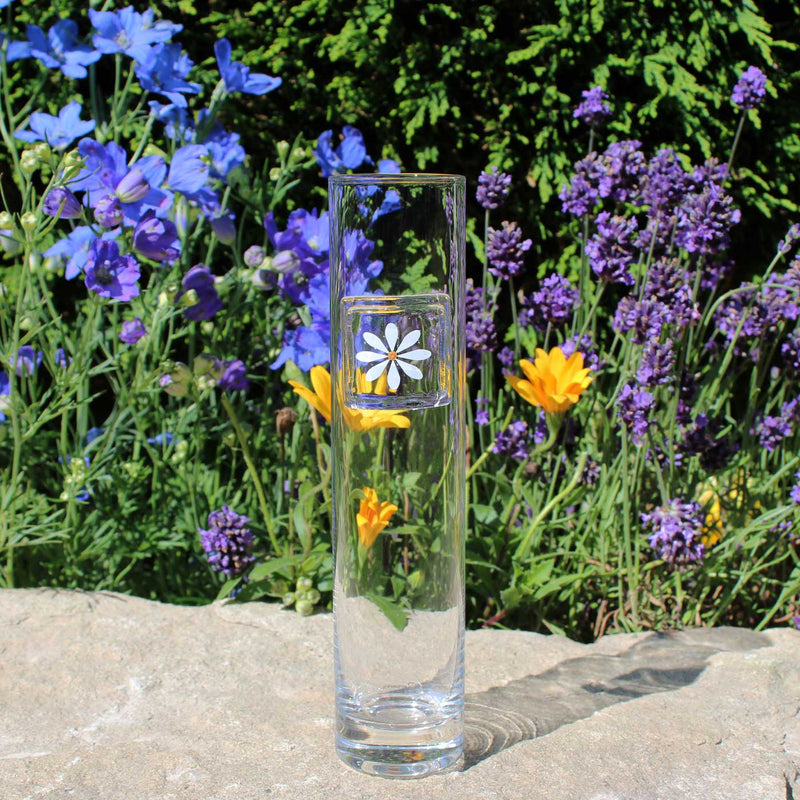 Daisy Tall Glass Clear Vase Gifts