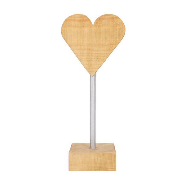 Oak Heart on Stand by Handcrafted by Ally