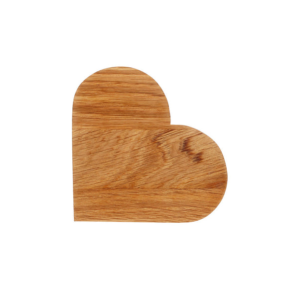 Solid Oak Heart by Handcrafted by Ally