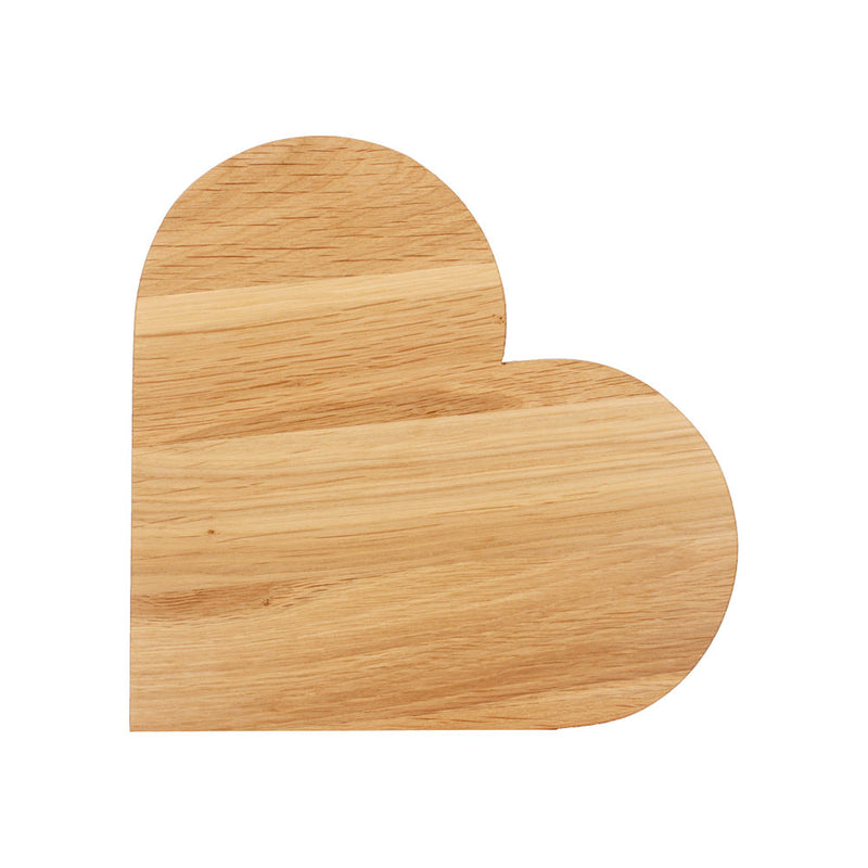 Solid Oak Heart