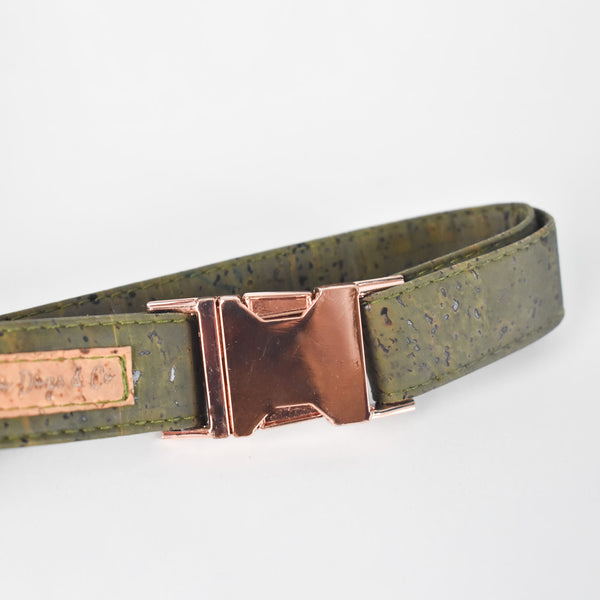 Khaki Cork Dog Collar