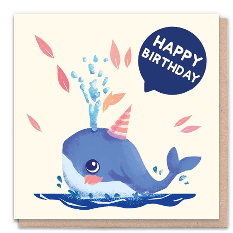 Happy Birthday Whale Card