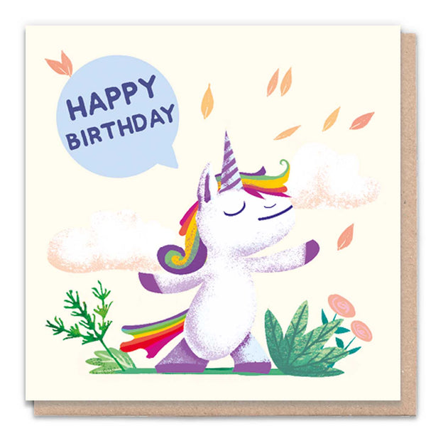Happy Birthday Unicorn Card