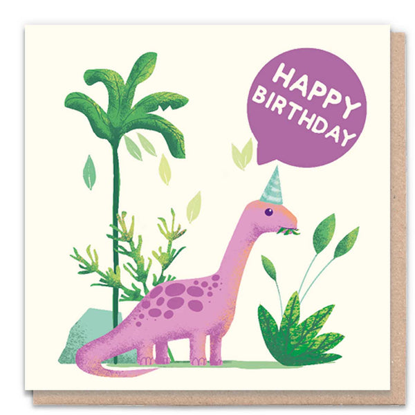 Happy Birthday Dinosaur Card by 1 Tree Cards