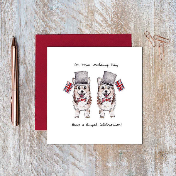 On Your Wedding Day Card ( Mr & Mr Corgi )