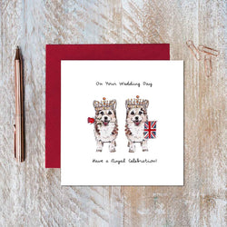 On Your Wedding Day Card ( Mrs & Mrs Corgi )