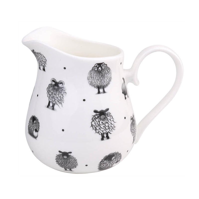 Black & White Sheep Large Round Jug