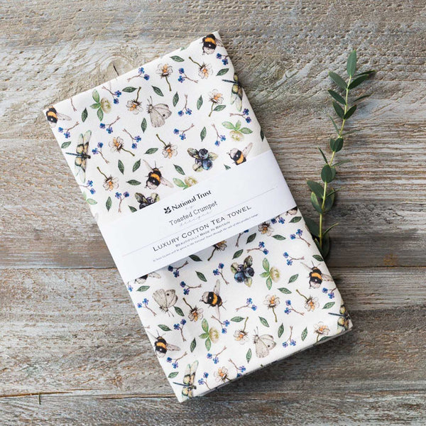 Wild Flowers Meadow Tea Towel by Toasted Crumpet