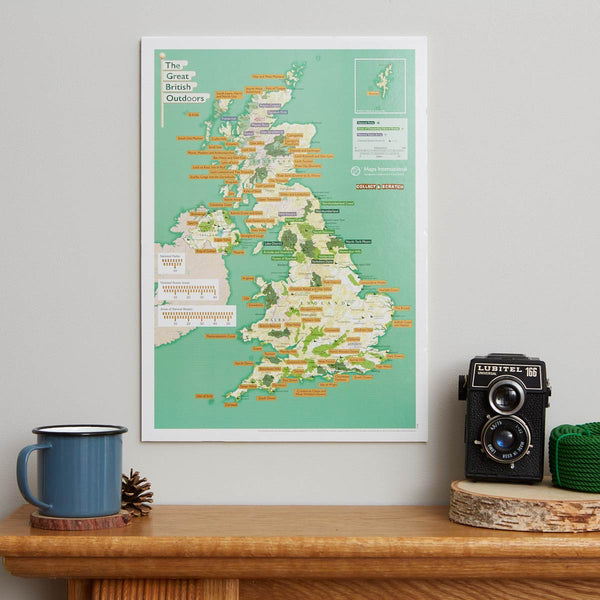 The Great British Outdoors Collect & Scratch Map by Maps International