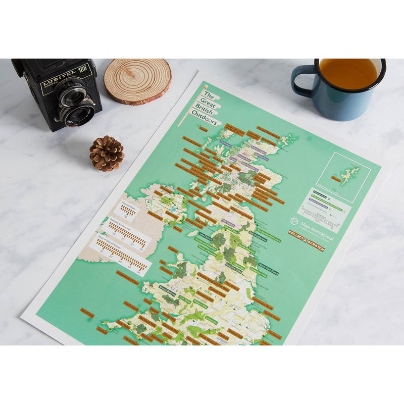 The Great British Outdoors Collect & Scratch Map