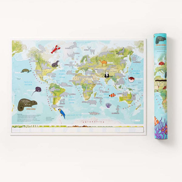 Kids Animal World Scratch Map