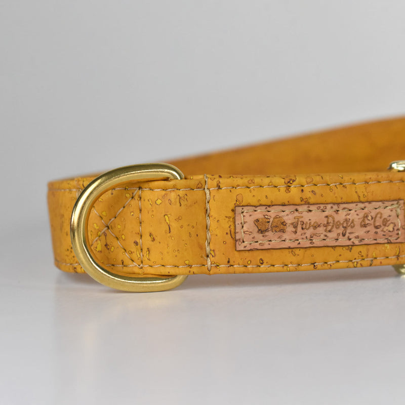 Mustard Cork Dog Collar