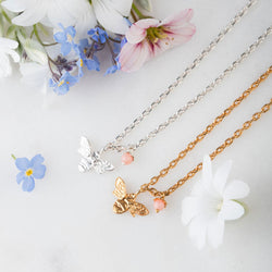 Mini Bee Necklace by Amanda Coleman
