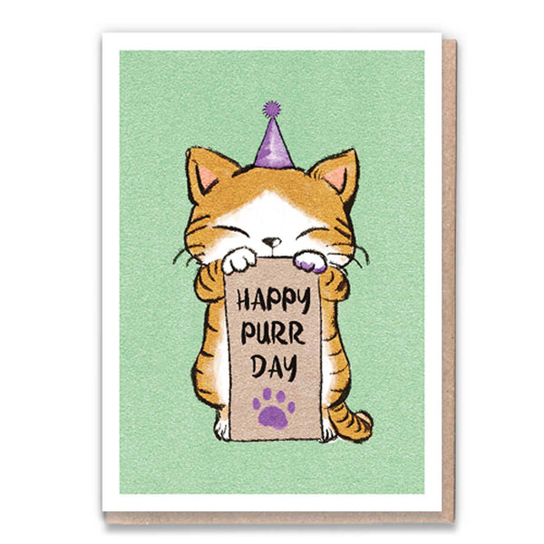 Happy Purrday Card by 1 Tree Cards