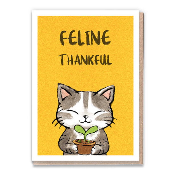 Feline Thankful Card