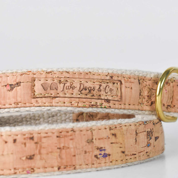 Natural Cork and Hemp Dog Lead