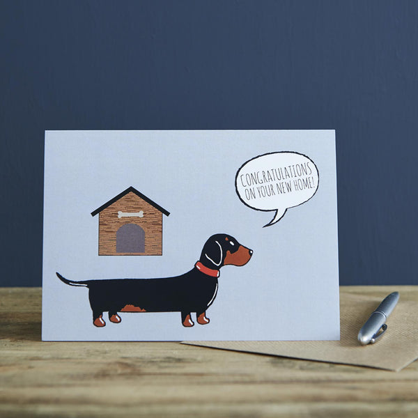 Dachshund New Home Card